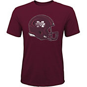 Gen2 Youth Mississippi State Bulldogs Maroon Helmet T-Shirt
