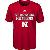 adidas Youth Nebraska Cornhuskers Scarlet In Motion T-Shirt