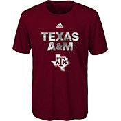 adidas Youth Texas A&M Aggies Maroon In Motion T-Shirt
