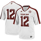 adidas Youth Texas A&M Aggies #12 White Replica Football Jersey