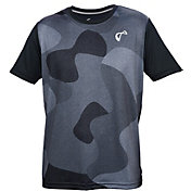 athletic DNA Men's Match Crew Bubble Camo Tennis Shirt