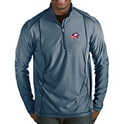 Antigua Men's Columbus Blue Jackets Tempo Half-Zip Pullover Shirt