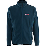 Antigua Men's Atlanta Braves Full-Zip Navy Ice Jacket