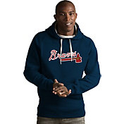 Antigua Men's Atlanta Braves Navy Victory Pullover