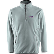 Antigua Men's Atlanta Braves Quarter-Zip Silver Ice Pullover