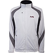 Antigua Men's Atlanta Braves Tempest White Full-Zip Jacket