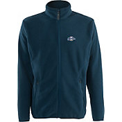 Antigua Men's Milwaukee Brewers Full-Zip Navy Ice Jacket