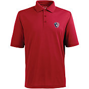 Antigua Men's Milwaukee Brewers Xtra-Lite Patriotic Logo Red Pique Performance Polo