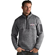 Antigua Men's 2016 World Series Champions Chicago Cubs Grey Fortune Half-Zip Pullover