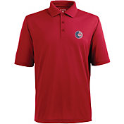 Antigua Men's Chicago Cubs Xtra-Lite Patriotic Logo Red Pique Performance Polo