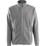 Antigua Men's Chicago Cubs Full-Zip Silver Ice Jacket