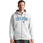 Antigua Men's 2016 World Series Champions Chicago Cubs White Victory Full-Zip Hoodie
