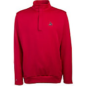 Antigua Men's St. Louis Cardinals Victor Red Half-Zip Pullover