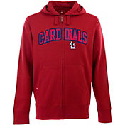 Antigua Men's St. Louis Cardinals Red Split Applique Full-Zip Hoodie