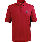 Antigua Men's St. Louis Cardinals Xtra-Lite Patriotic Logo Red Pique Performance Polo