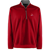 Antigua Men's St. Louis Cardinals Leader Red Quarter-Zip Pullover