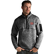 Antigua Men's Arizona Diamondbacks Black Fortune Half-Zip Pullover