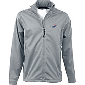Antigua Men's Los Angeles Dodgers Full-Zip Silver Golf Jacket
