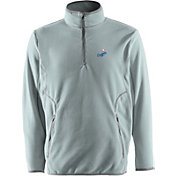Antigua Men's Los Angeles Dodgers Quarter-Zip Silver Ice Pullover
