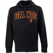 Antigua Men's San Francisco Giants Black Split Applique Full-Zip Hoodie