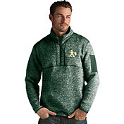 Antigua Men's Oakland Athletics Green Fortune Half-Zip Pullover