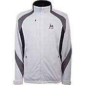 Antigua Men's Miami Marlins Tempest White Full-Zip Jacket
