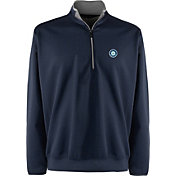 Antigua Men's Seattle Mariners Leader Navy Quarter-Zip Pullover