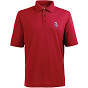 Antigua Men's Seattle Mariners Xtra-Lite Patriotic Logo Red Pique Performance Polo