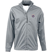 Antigua Men's New York Mets Full-Zip Silver Golf Jacket