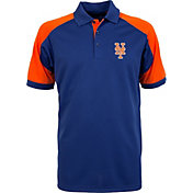 Antigua Men's New York Mets Century Royal/Orange Polo