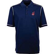 Antigua Men's Cleveland Indians Icon Navy Performance Polo