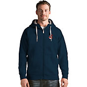Antigua Men's Cleveland Indians Navy Victory Full-Zip Hoodie