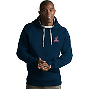 Antigua Men's Cleveland Indians Navy Victory Pullover