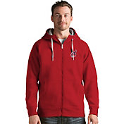 Antigua Men's Cleveland Indians Red Victory Full-Zip Hoodie