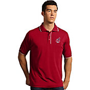 Antigua Men's Cleveland Indians Red Icon Performance Polo