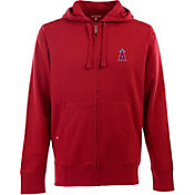 Antigua Men's Los Angeles Angels Red Full-Zip Fleece Hoodie