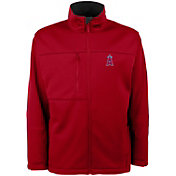 Antigua Men's Los Angeles Angels Red Traverse Fleece Jacket