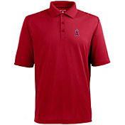 Antigua Men's Los Angeles Angels Red Xtra-Lite Pique Performance Polo
