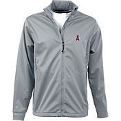 Antigua Men's Los Angeles Angels Full-Zip Silver Golf Jacket