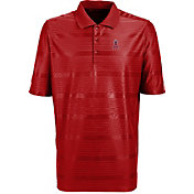 Antigua Men's Los Angeles Angels Illusion Red Striped Performance Polo
