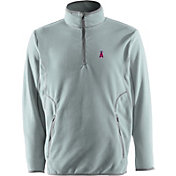 Antigua Men's Los Angeles Angels Quarter-Zip Silver Ice Pullover