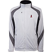 Antigua Men's Los Angeles Angels Tempest White Full-Zip Jacket