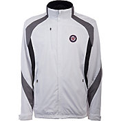 Antigua Men's Washington Nationals Tempest White Full-Zip Jacket