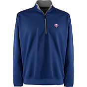 Antigua Men's Philadelphia Phillies Leader Royal Quarter-Zip Pullover