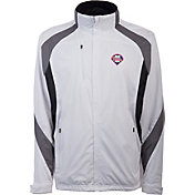 Antigua Men's Philadelphia Phillies Tempest White Full-Zip Jacket