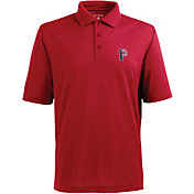 Antigua Men's Pittsburgh Pirates Xtra-Lite Patriotic Logo Red Pique Performance Polo