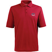Antigua Men's Cincinnati Reds Xtra-Lite Patriotic Logo Red Pique Performance Polo