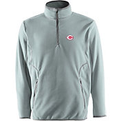 Antigua Men's Cincinnati Reds Quarter-Zip Silver Ice Pullover