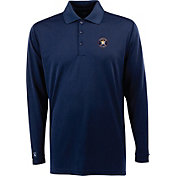 Antigua Men's Houston Astros Exceed Navy       Long Sleeve Performance Polo