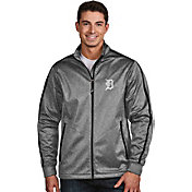 Antigua Men's Detroit Tigers Grey Golf Jacket